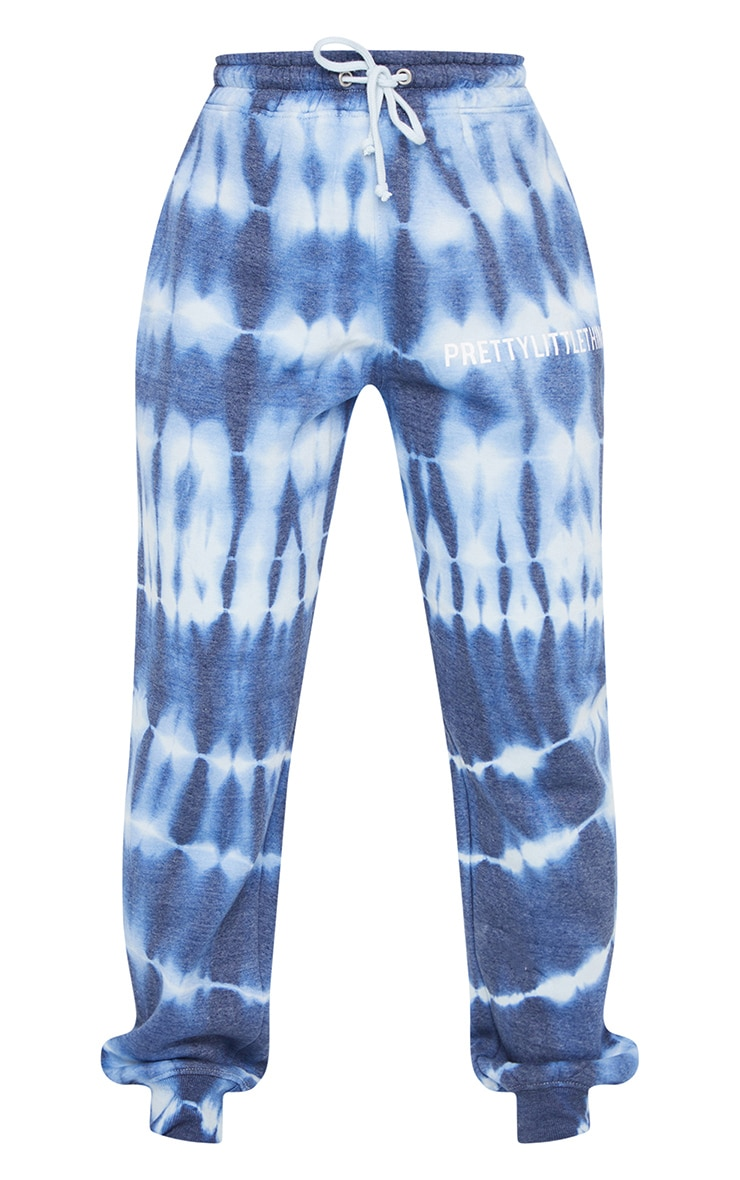 PRETTYLITTLETHING Blue Tie Dye Washed Joggers 5