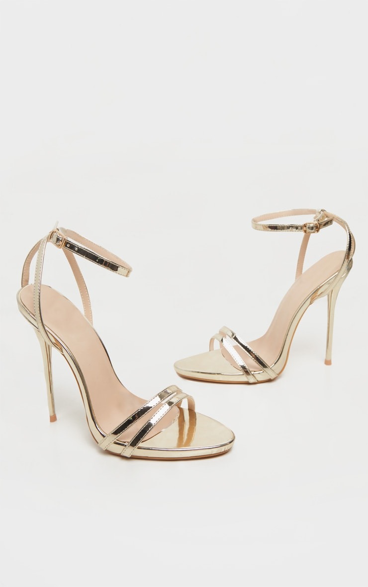 Gold High Strappy Sandal 4