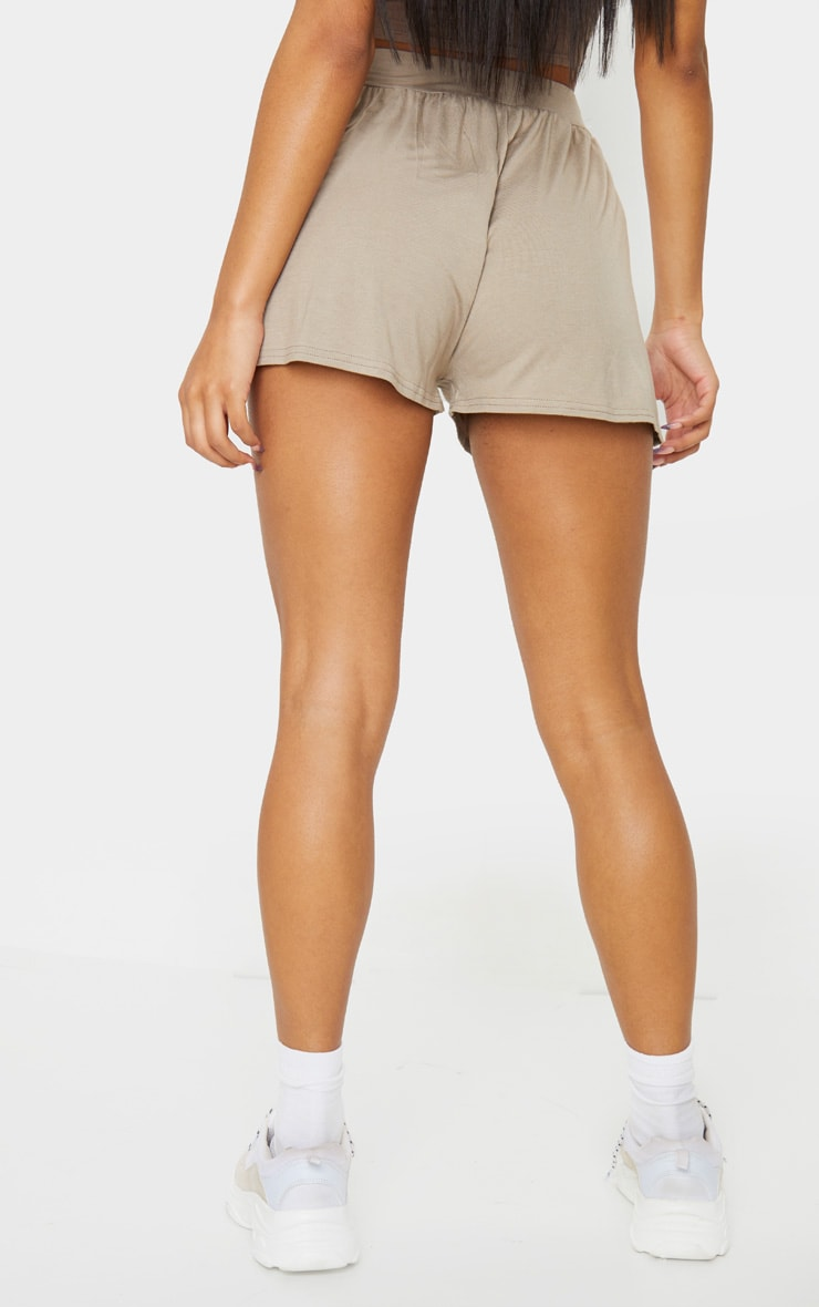 Lucilla Taupe Jersey Floaty Shorts 3