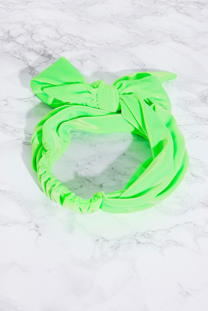 Lime Velvet Wrap Headband 4