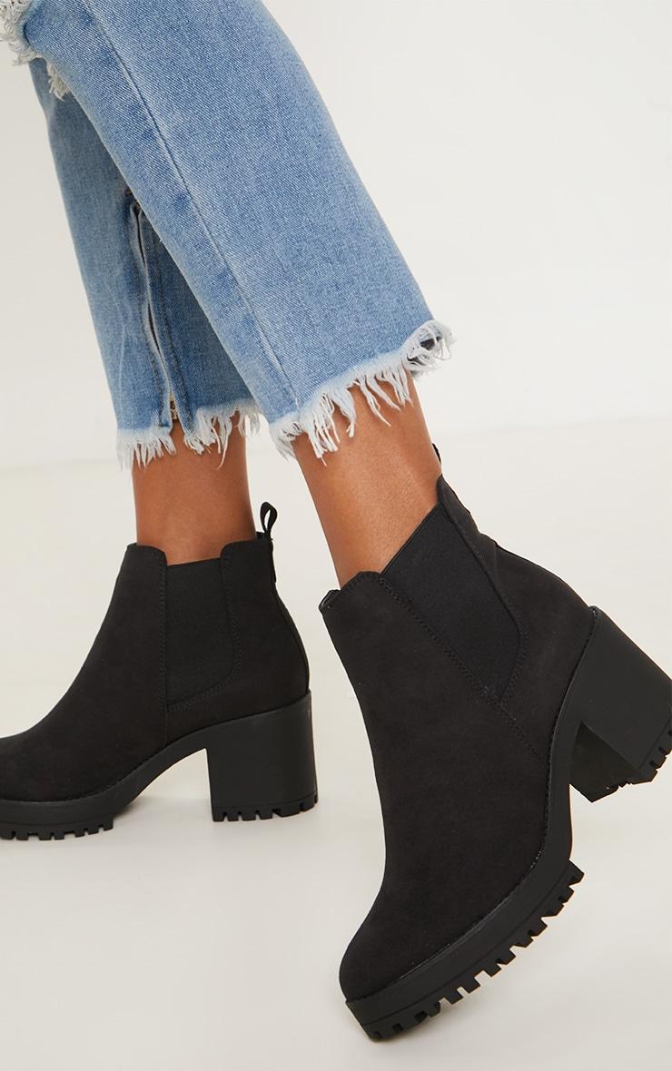 Black Chunky Chelsea Boot, Black