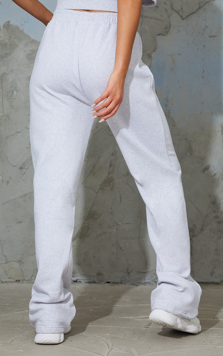 Ash Grey Seam Detail Wide Leg Joggers 3
