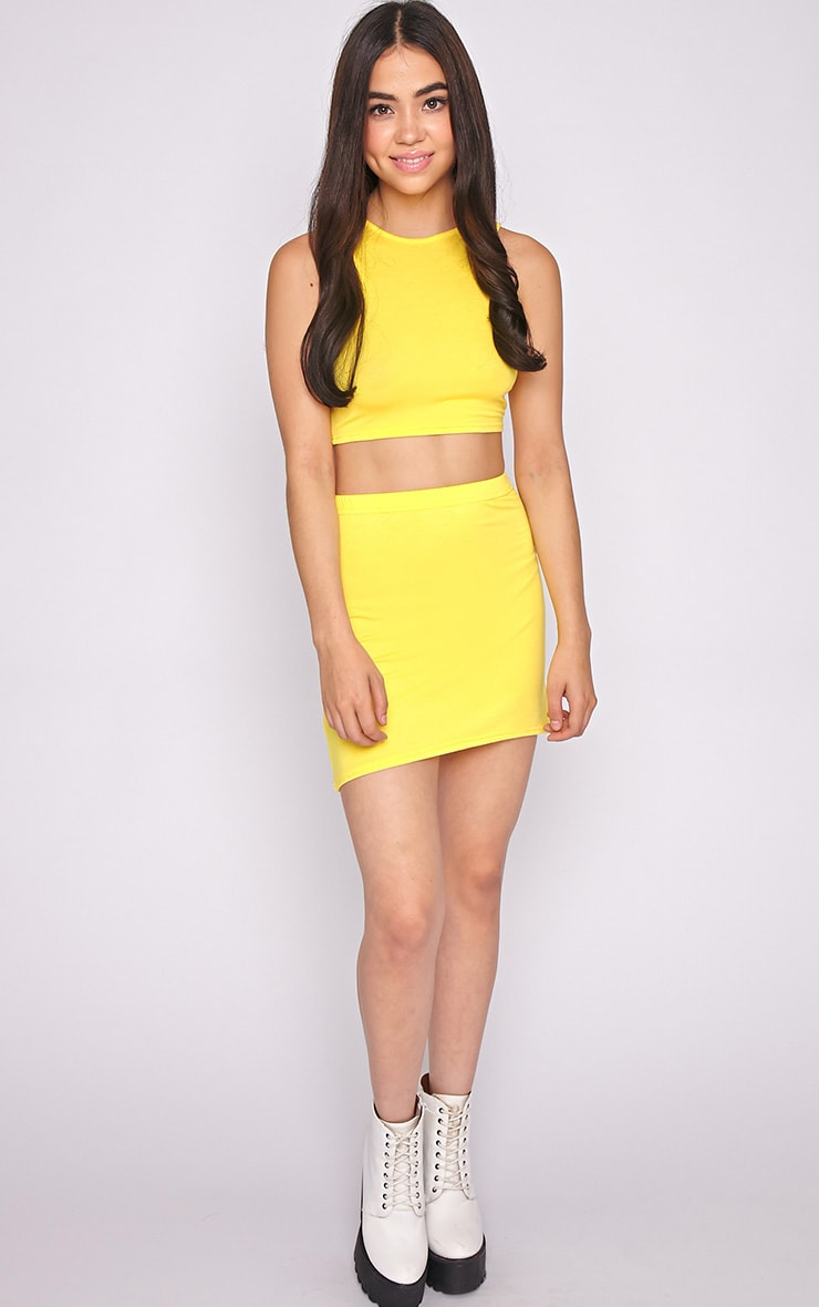 Madelyn Yellow Crop Top 3