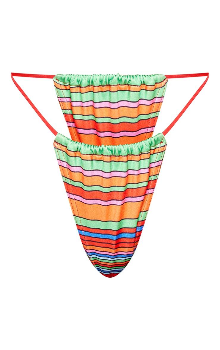Red Striped Bikini Bottoms 5
