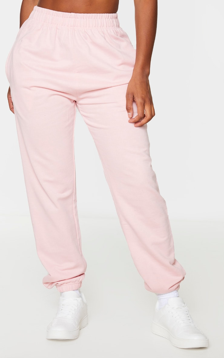 PRETTYLITTLETHING Shape Baby Pink Printed Bum Joggers 2