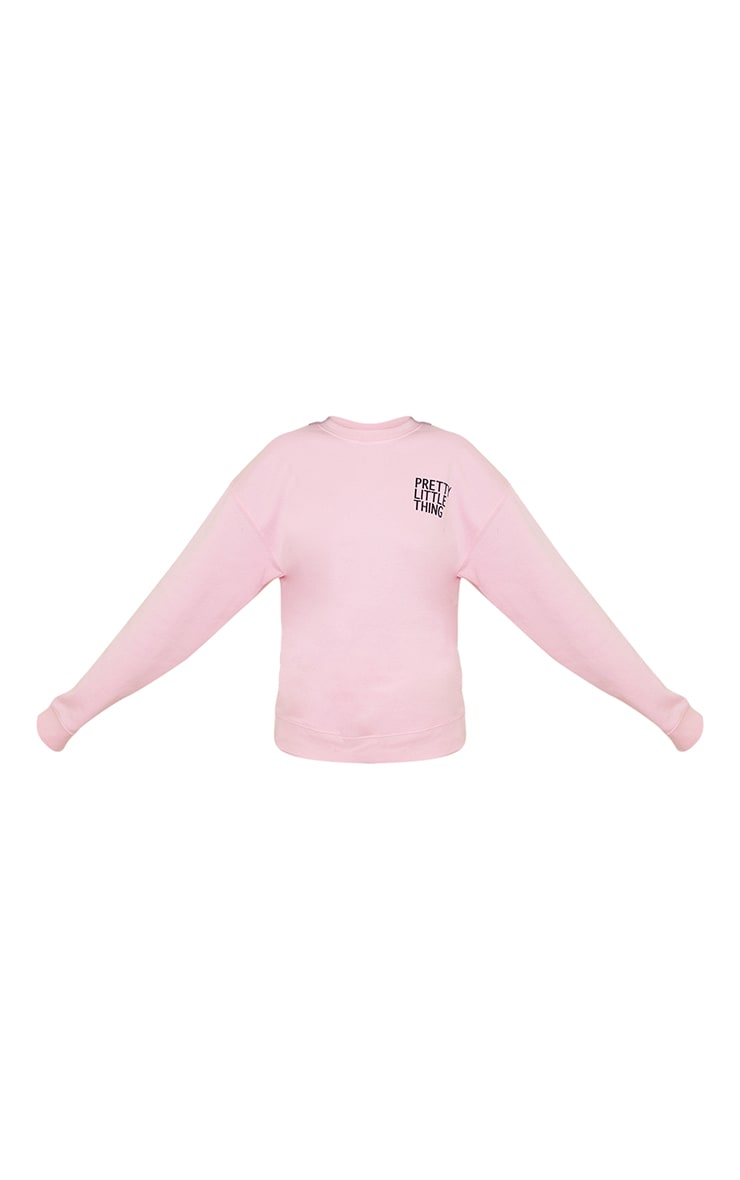PRETTYLITTLETHING Petite Pink Oversized Sweater 5