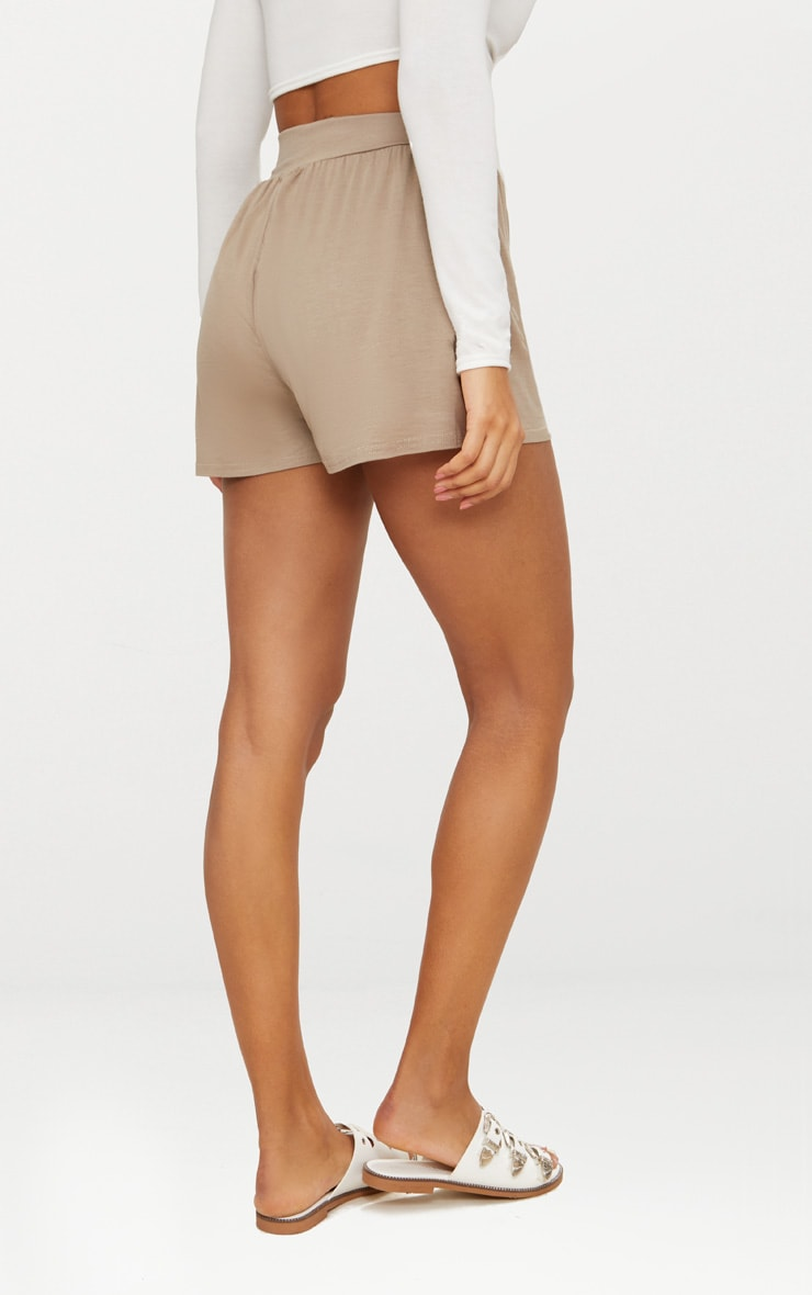 Lucilla Taupe Jersey Floaty Shorts 4