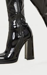 Bottes-chaussettes noires à talon bloc 4