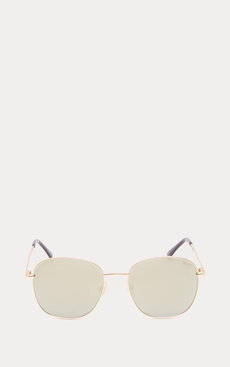 QUAY AUSTRALIA Gold Jezabell Sunglasses 2