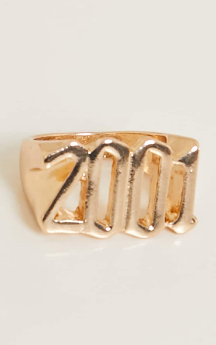 2001 Gothic Font Ring 2