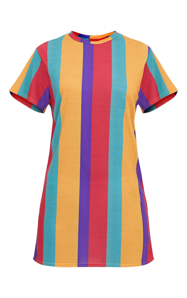 Multi Striped T Shirt Dress 3