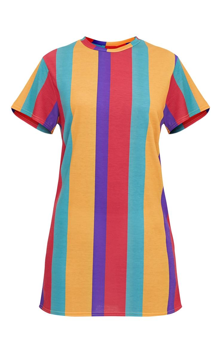 Multi Striped T Shirt Dress 3