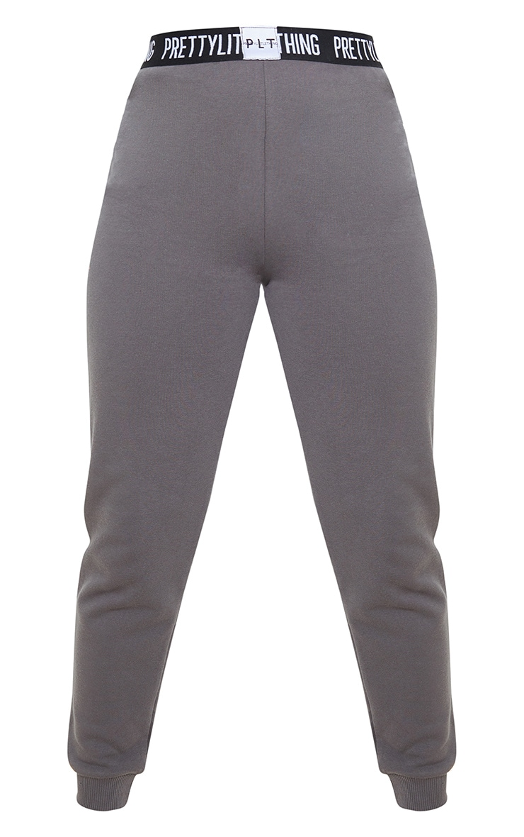 PRETTYLITTLETHING Petite - Jogging gris anthracite lounge 3