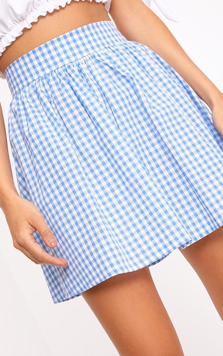 Rosae Blue Gingham Floaty Mini Skirt  6