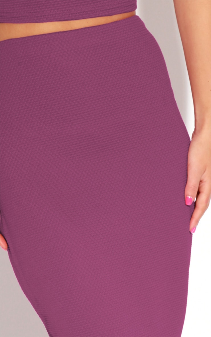 Fallon Purple MIdi Skirt 3