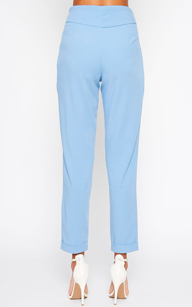 Elenor Blue High Waisted Tapered Pants 2
