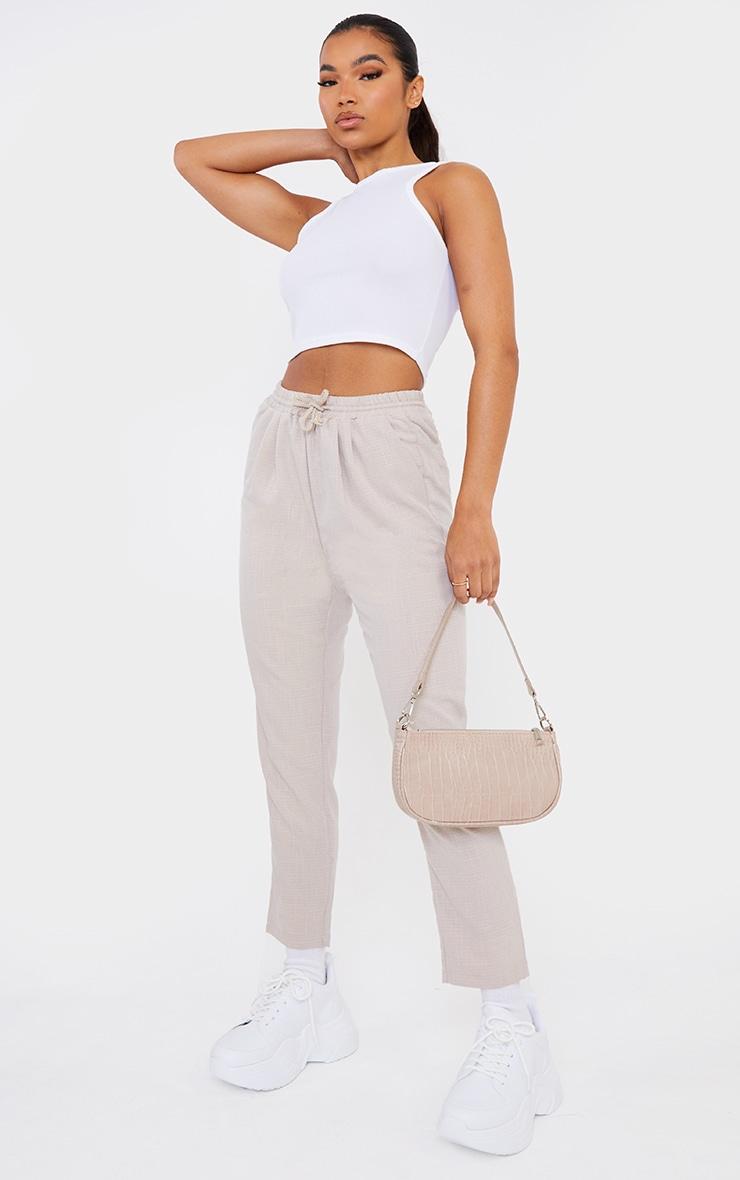 Pantalon style casual gris pierre 1