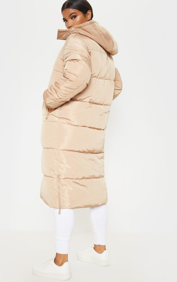 Stone Maxi Hooded Puffer  2