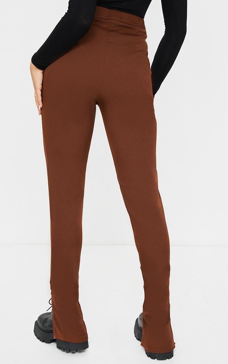 Chocolate Zip Hem Woven Skinny Trousers 3