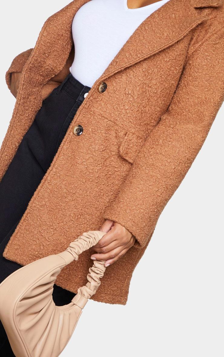 Plus Brown Teddy Button Down Coat 4