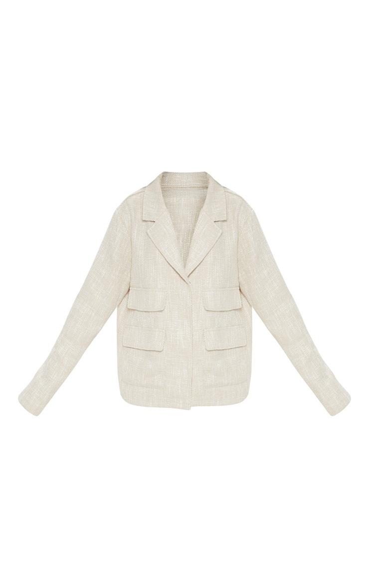 Stone Boucle Boxy Jacket  3