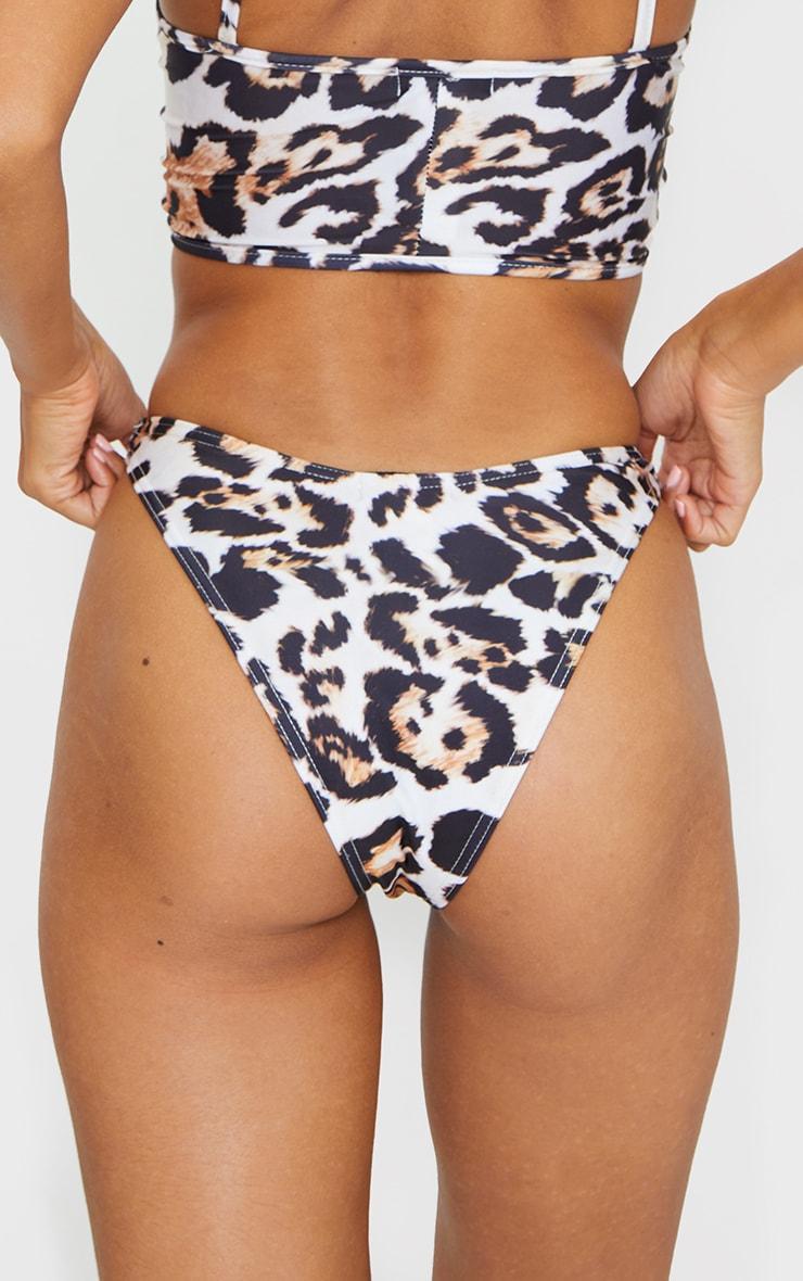 Leopard Print Mini Bikini Bottom 5