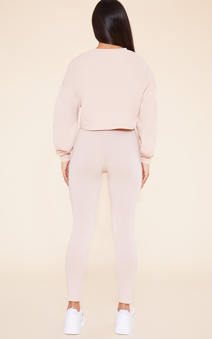 RECYCLED Deep Nude Crop Sweater 5