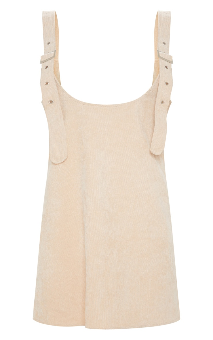 Stone Corduroy Buckle Front Skater Pinafore Dress 3