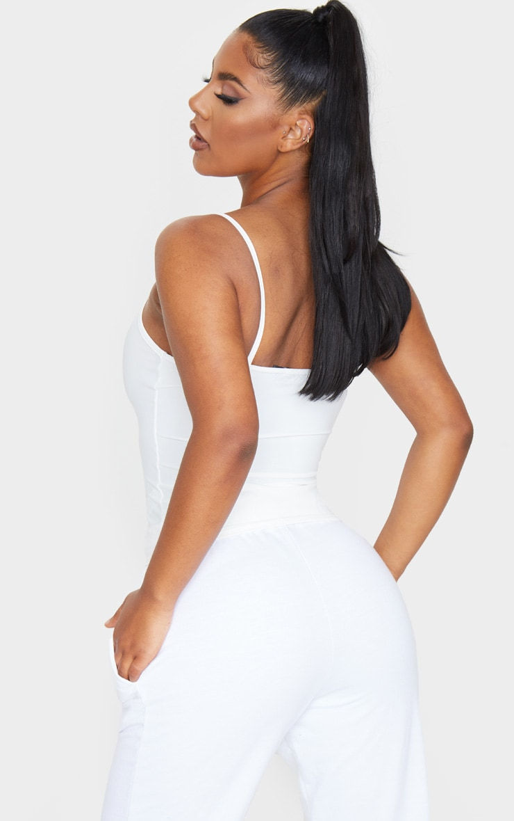 White Slinky Cami Top 2