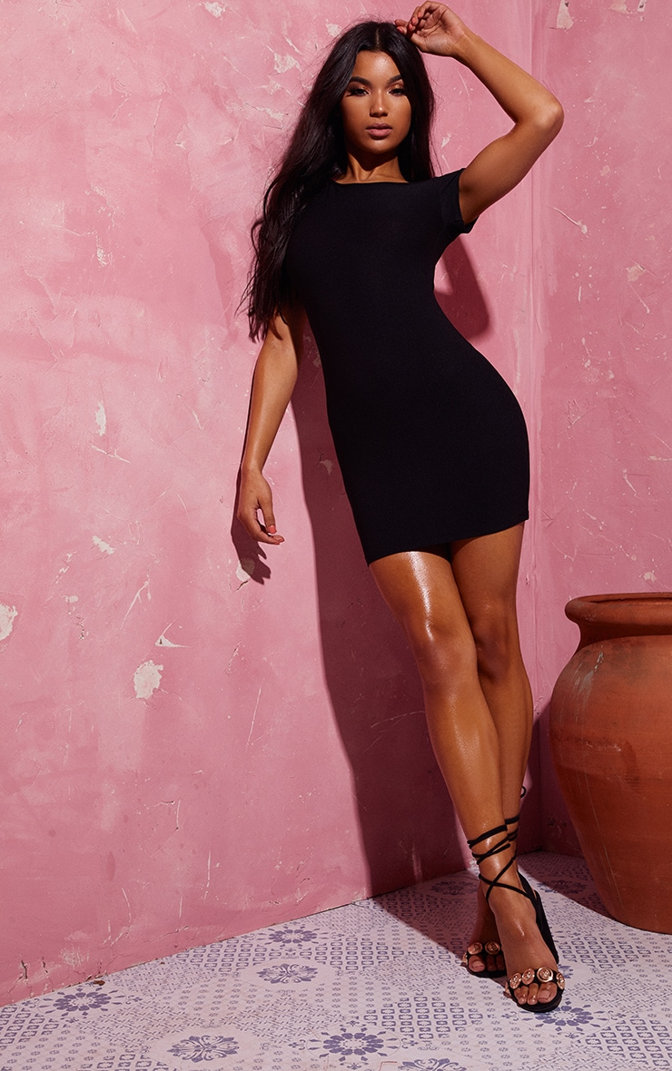 Black Off The Shoulder Bodycon Dress 3