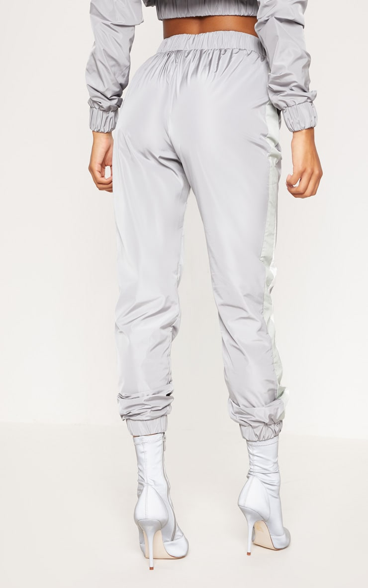 Grey Stripe Shell Tracksuit Jogger 4