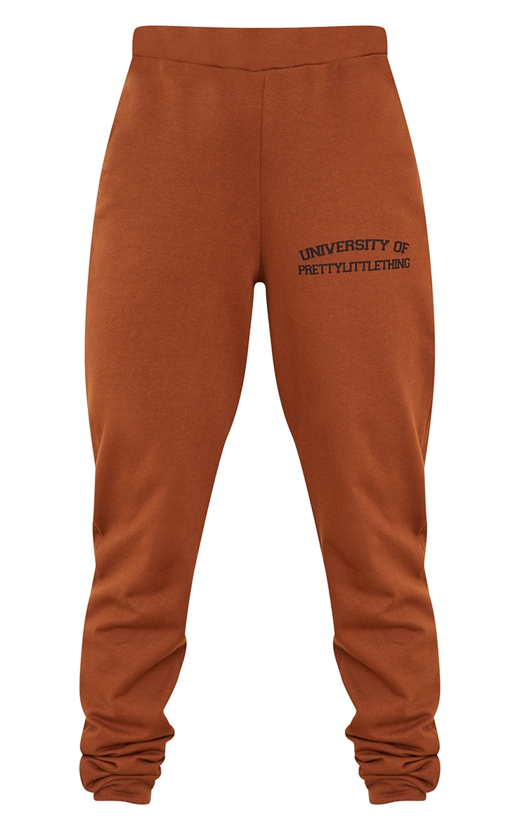 PRETTYLITTLETHING Petite Chocolate Joggers 5