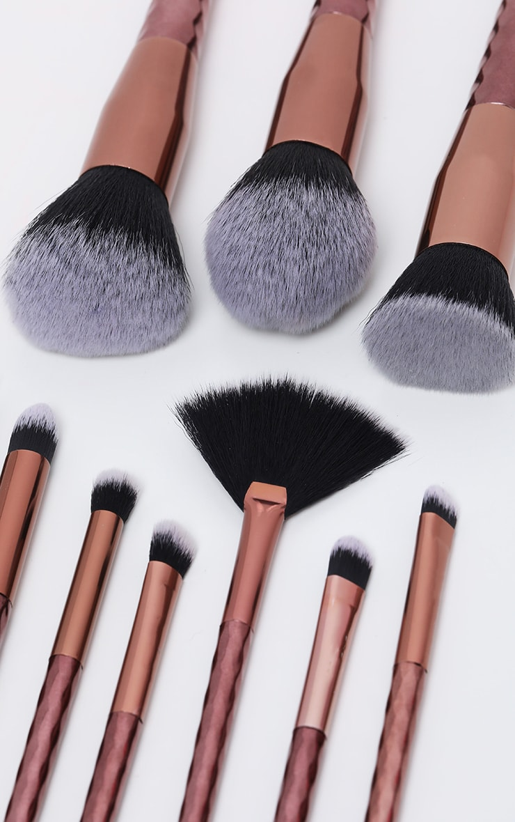10 Piece Diamond Brush Set Bronze 3