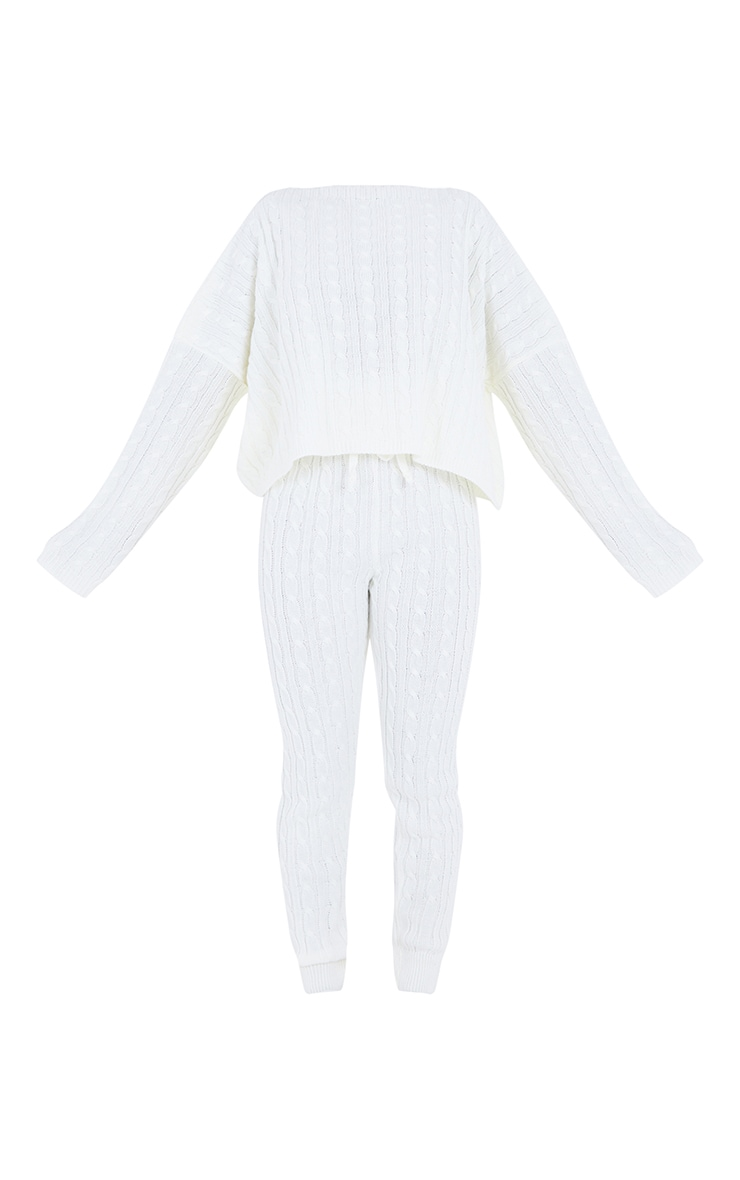 Cream Cable Knit Jumper & Legging Set 5