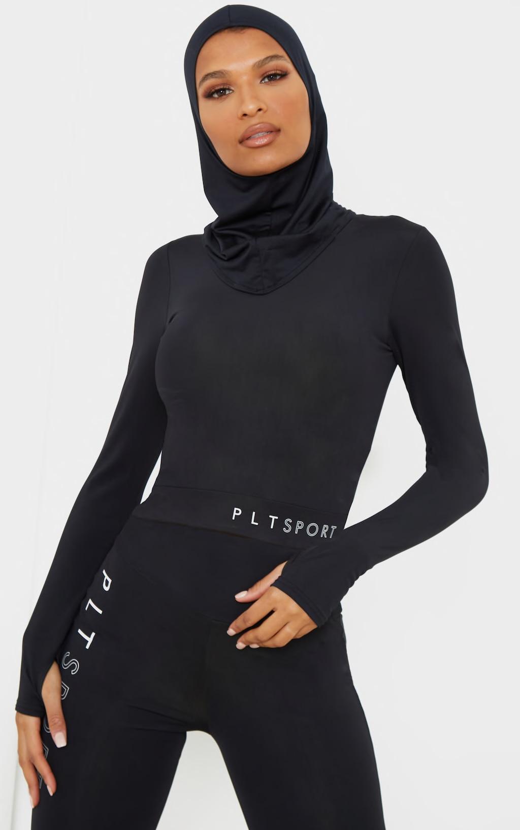 Black Sports Hijab 1
