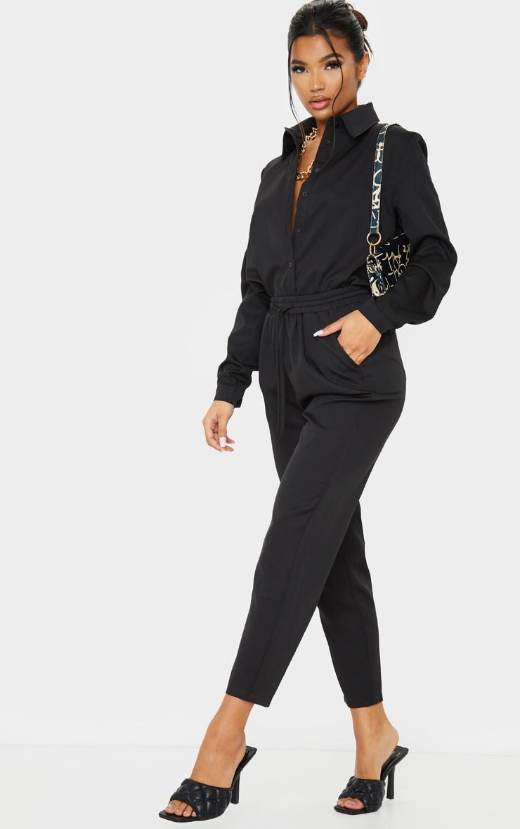 Black Oversized Long Sleeve Shirt 3
