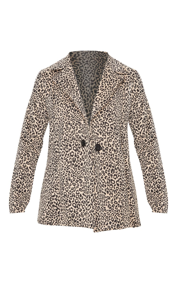 Brown Leopard Boyfriend Blazer 3