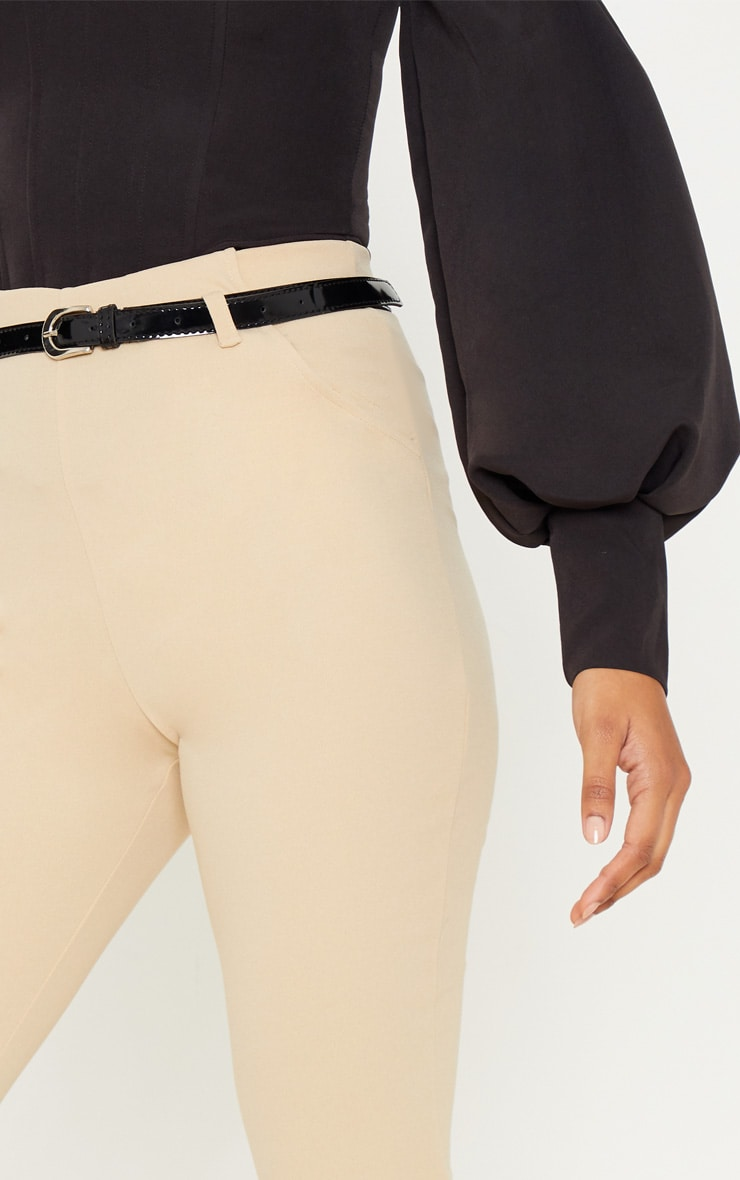 Stone Flared Belted Trouser 4