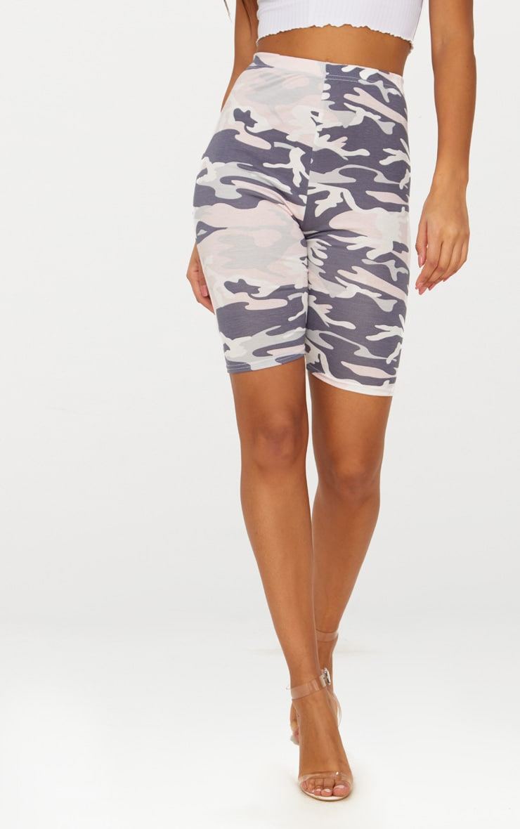 Nude Camo Print Cycle Shorts 2