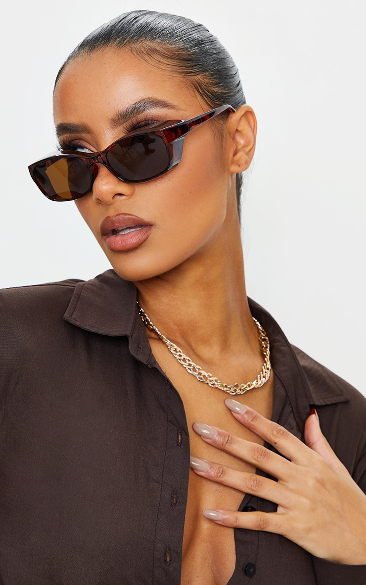 Brown Leopard Square Frame Sunglasses image 1
