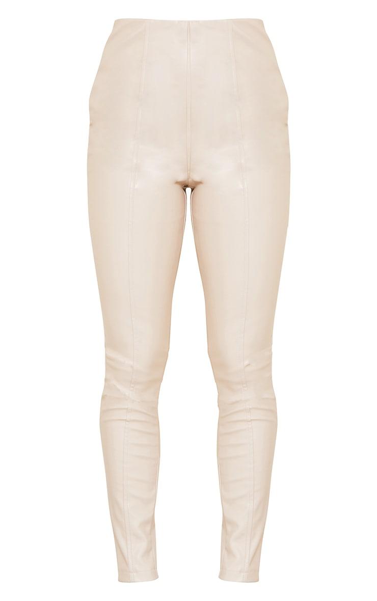 Petite - Legging stretch en similicuir gris pierre 5