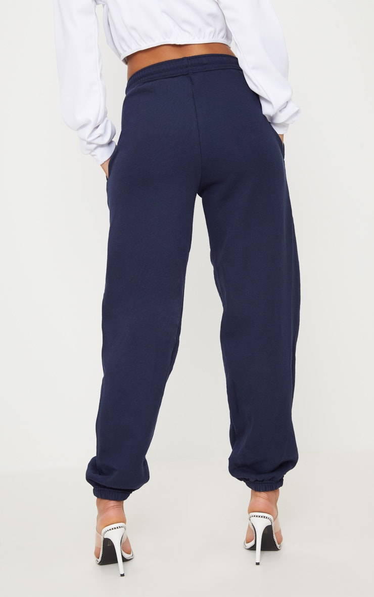 PRETTYLITTLETHING Navy Embroidered Jogger 4