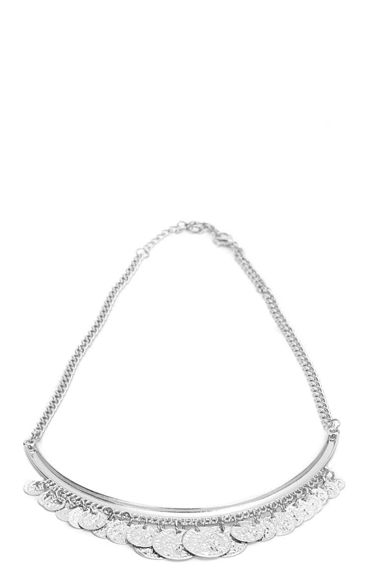 Laura Silver Coin Necklace 2