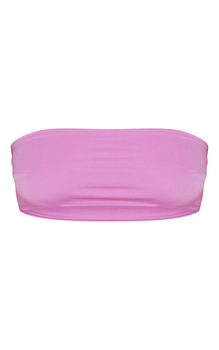 Violet Mix & Match Bandeau Bikini Top 3