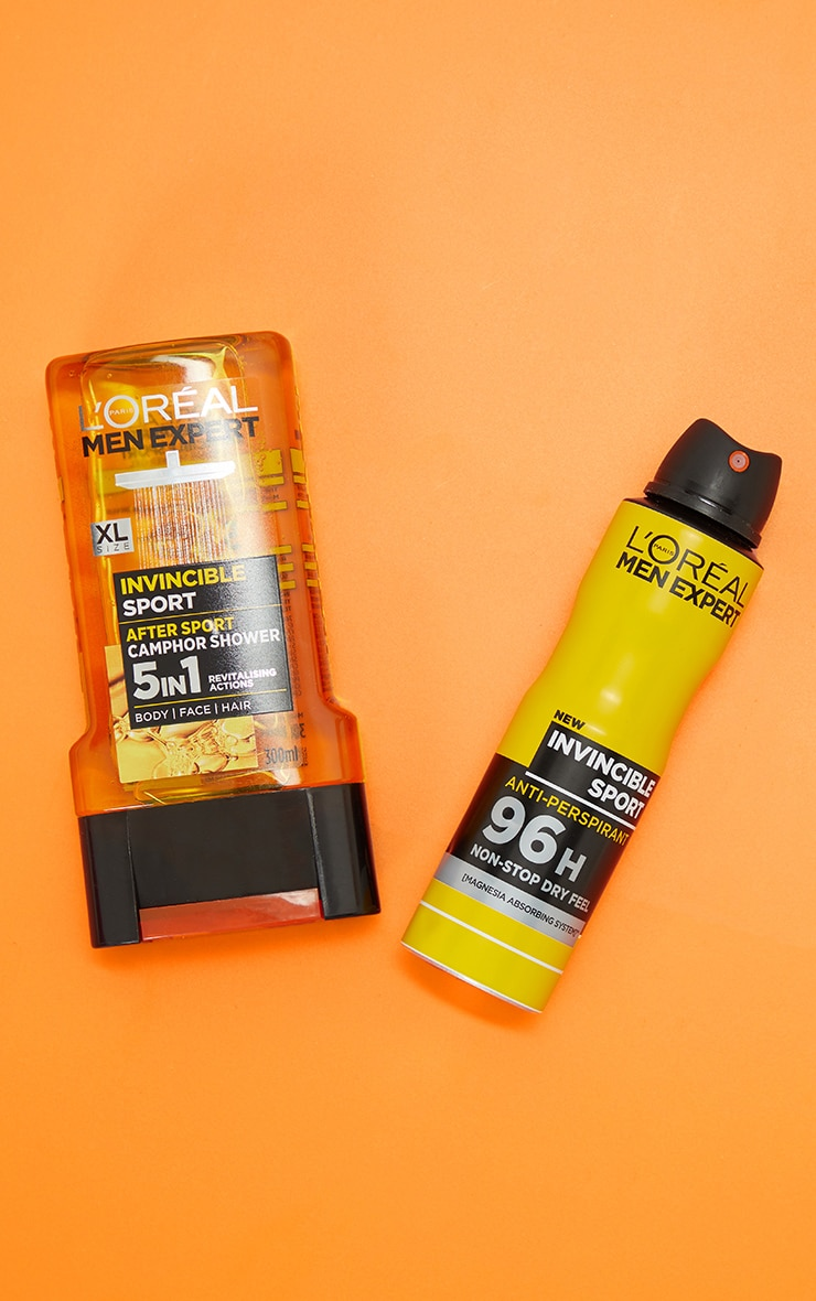 L'Oreal Men Expert Invincible Sport Duo Gift Set: Shower Gel & Deodorant 1