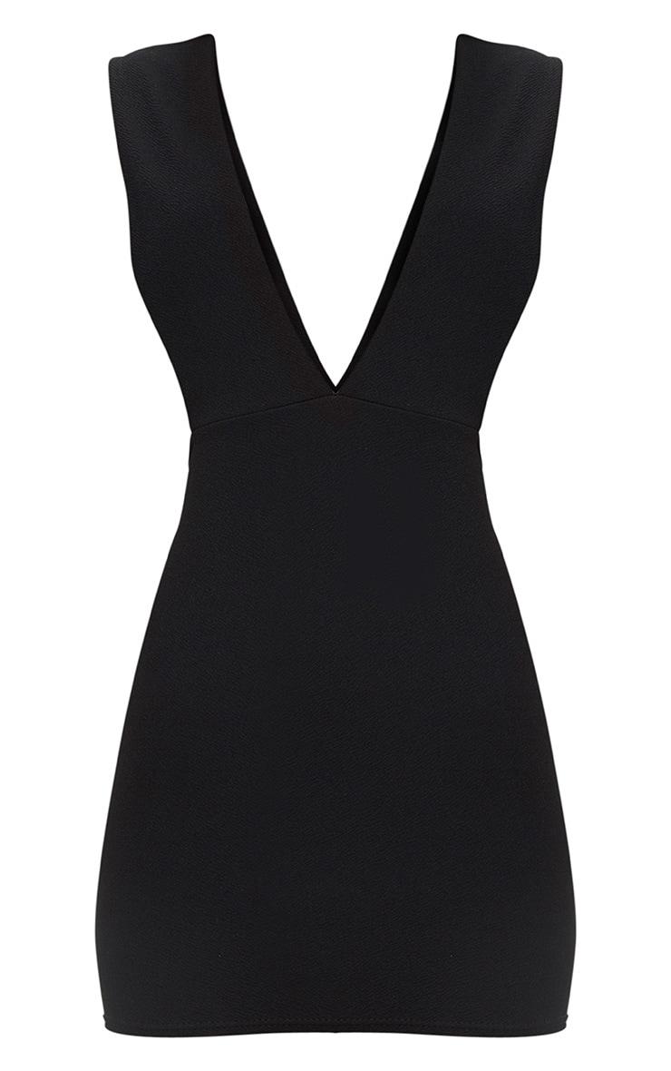 Black Extreme Plunge Strap Bodycon Dress 3