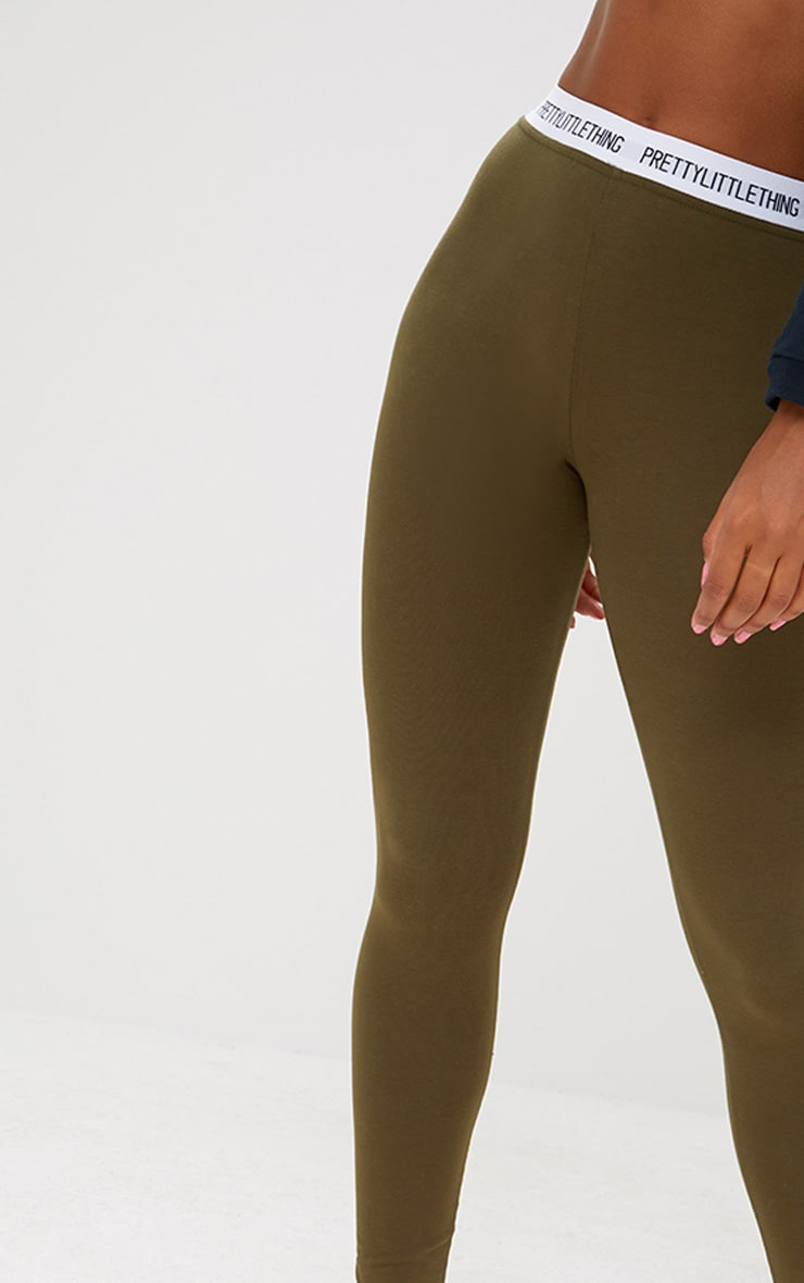 PRETTYLITTLETHING Khaki Leggings 5