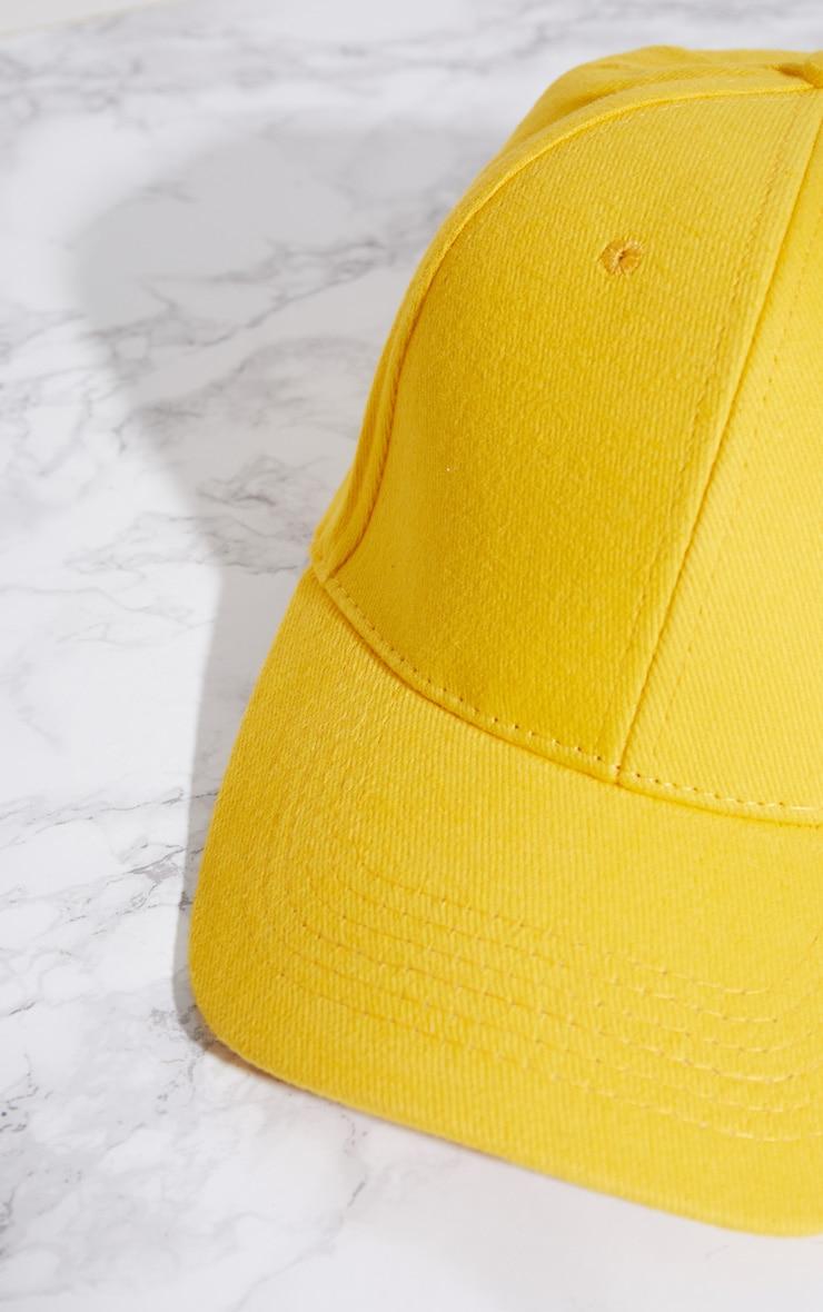 Yellow Baseball Cap 4