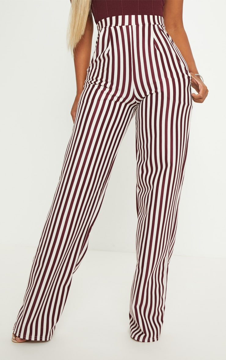 Shape Burgundy Wide Leg Pants  2