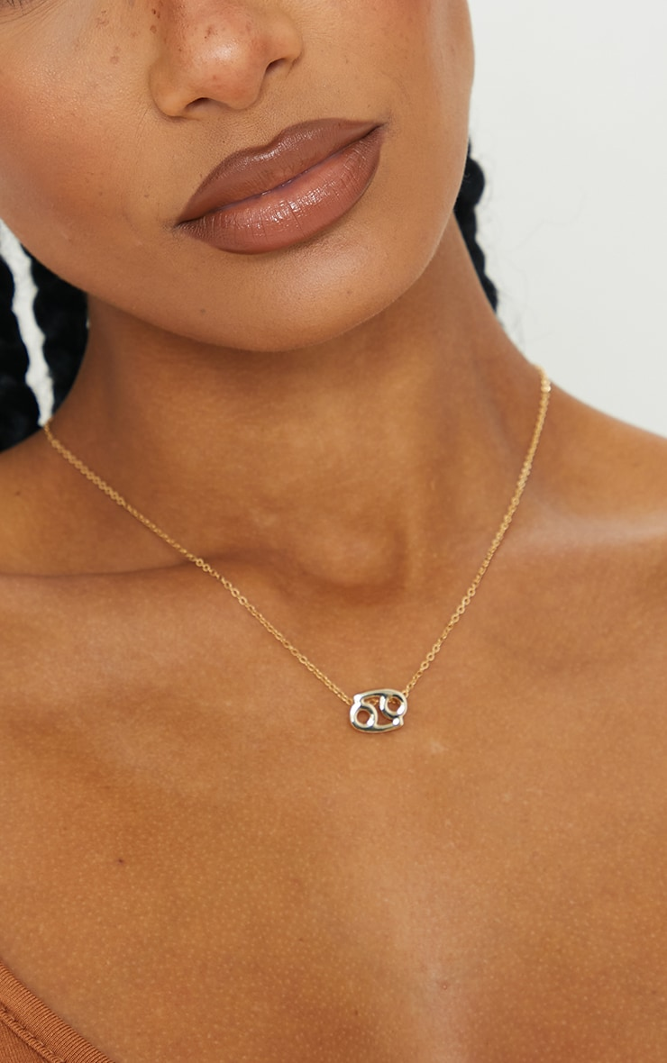 Gold Cancer Star Sign Necklace 2